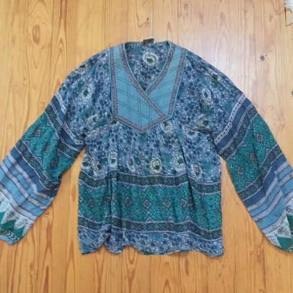 Vintage Tops 70s Indian Gauze Peasant Shirt Poshmark